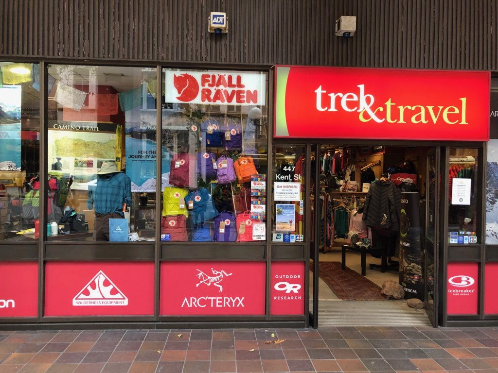 Trek & Travel, Kent Street, Sydney - One of the best hiking stores in Sydney