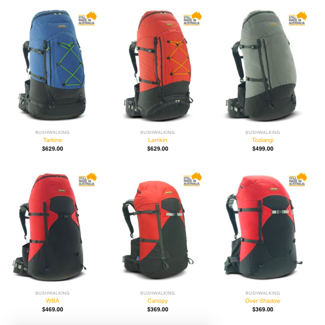 One Planet - Made in Australia Backpacks