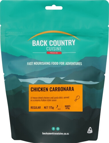Picture of a packet of NZ made Back Country Cuisine food