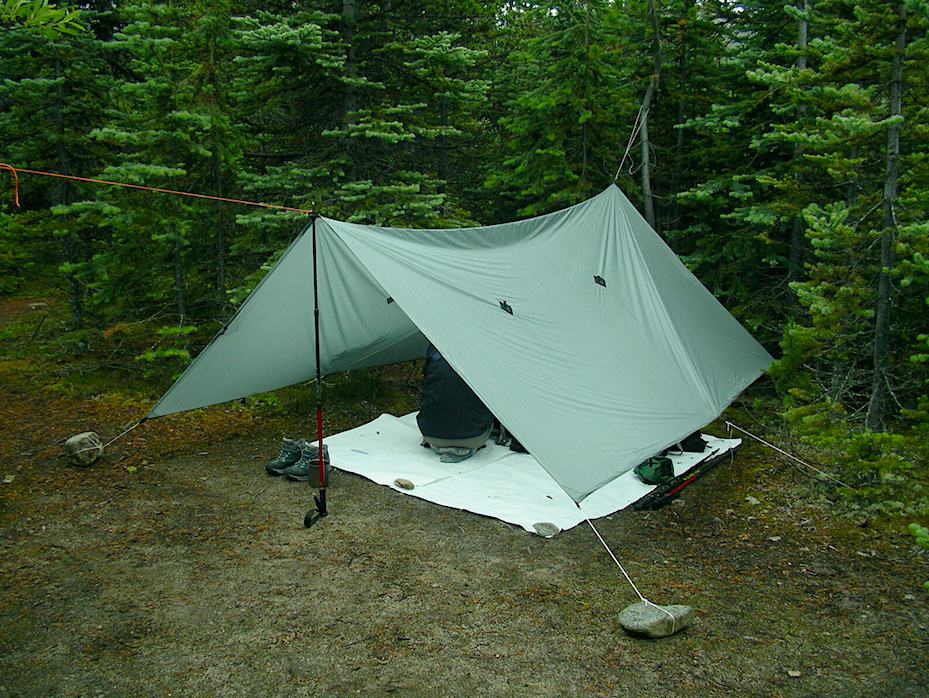 tarp tent used for ultralight hiking